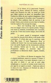 Bapteme Du Feu - 4ème de couverture - Format classique