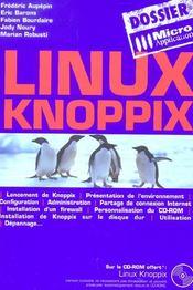 Dossier linux knoppix - Intérieur - Format classique