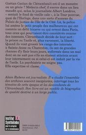Le Maitre Des Insenses. Gaetan Gatian De Clerambault (1872-1934) - 4ème de couverture - Format classique