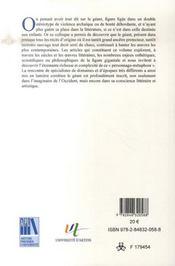 Les géants ; entre mythe et littérature - 4ème de couverture - Format classique