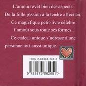 Le petit livre de l'amour - 4ème de couverture - Format classique