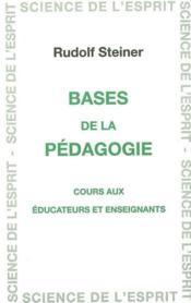 Bases De La Pedagogie - Couverture - Format classique