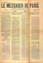 Messages De Paris (Le) N°18 du 24/05/1940 - Couverture - Format classique