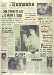 Humanite (L') N°5439 du 22/02/1962 - Couverture - Format classique