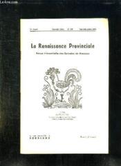La Renaissance Provinciale N° 106 Mai Juin Juillet 1954. Coq De Maurice Albe. - Couverture - Format classique