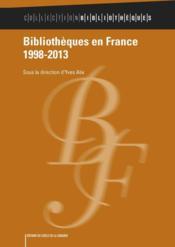 Bibliothèques en France 1998-2013 - Couverture - Format classique
