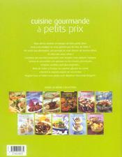 Cuisine Gourmande A Petits Prix - 4ème de couverture - Format classique