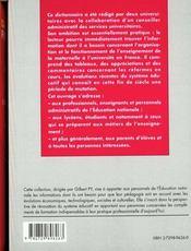 Dictionnaire Pratique De L'Enseignement En France De La Maternelle Au Superieur Formation Des Person - 4ème de couverture - Format classique