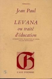 Levana ou traité d'éducation - Couverture - Format classique