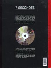 7 secondes t.2 ; benavides - 4ème de couverture - Format classique