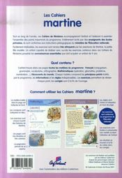 Les cahiers de martine ; cm1 - 4ème de couverture - Format classique