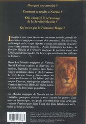 Les mondes magiques de narnia - 4ème de couverture - Format classique