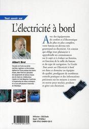 Tout Savoir Sur L'Electricite A Bord - 4ème de couverture - Format classique