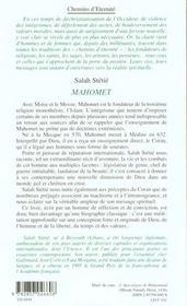 Mahomet - 4ème de couverture - Format classique