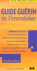 Guide Guerin De L'Immobilier ; Edition 2001-2002 - Intérieur - Format classique