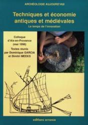 Techniques Et Economie Antiques Et Medievales, Le Temps De L'Innovation - Couverture - Format classique