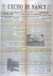 Echo De Nancy (L') N°1017 du 18/09/1943 - Couverture - Format classique