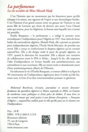La parfumeuse ; la vie occultée de madame Messali Hadj - 4ème de couverture - Format classique