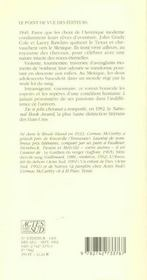 De Si Jolis Chevaux (Nouvelle Edition) - 4ème de couverture - Format classique