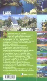 Randonnees Vers Les Lacs Et Sommets Des Pyrenees - 4ème de couverture - Format classique