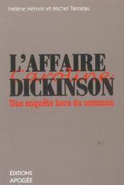 L'affaire caroline dickinson ; une enquete hors du commun - Intérieur - Format classique