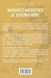 Radiesthesistes Et Sourciers - 4ème de couverture - Format classique