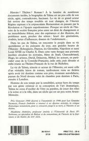 Talma - 4ème de couverture - Format classique