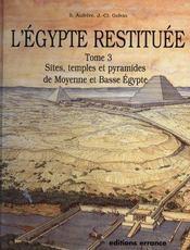 L'égypte restituée t.3 - Intérieur - Format classique