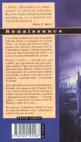 Le pouvoir du sang t.3 ; renaissance - 4ème de couverture - Format classique