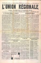 Union Regionale (L') N°1160 du 23/11/1940 - Couverture - Format classique
