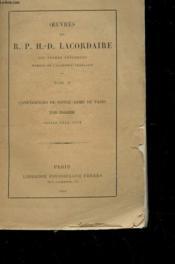 Oeuvres - Tome Iv - Conferences De Notre-Dame De Paris Annees 1846-1848 - Couverture - Format classique