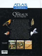 Les Oiseaux De Nos Regions - 4ème de couverture - Format classique