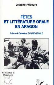 Fetes Et Litterature Orale En Aragon - Intérieur - Format classique