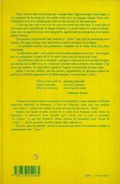 Grammaire Et Conjugaison Amaziy - 4ème de couverture - Format classique