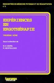 Expériences en ergothérapie - Couverture - Format classique