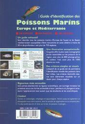 Guide d'identification des poissons marins - 4ème de couverture - Format classique