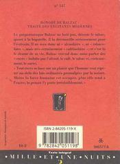 Traité des excitants modernes - 4ème de couverture - Format classique
