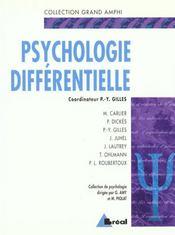 Psychologie Differentielle -(Gd Amphi) - Intérieur - Format classique