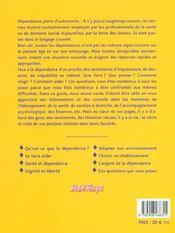 Accompagner La Dependance D'Un Proche - 4ème de couverture - Format classique