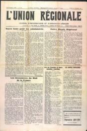 Union Regionale (L') N°1161 du 30/11/1940 - Couverture - Format classique