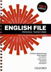 English File 3rd Edition Elementary Teacher'S Book With Test & Assessment Cd-Rom - Couverture - Format classique