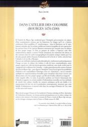 Dans l'atelier des Colombe (Bourges, 1470-1500) ; la représentation de l'Antiquité en France à la fin du XVe siècle - 4ème de couverture - Format classique