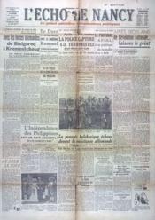 Echo De Nancy (L') N°1040 du 15/10/1943 - Couverture - Format classique