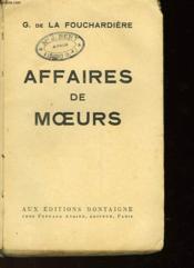 Affaires De Moeurs - Couverture - Format classique
