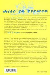 L'Ecrit Et L'Oral D'Anglais Aux Concours Des Ecoles De Commerce Sesame Acces Ipag Team - 4ème de couverture - Format classique