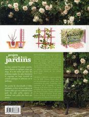 Projets pour petits jardins - 4ème de couverture - Format classique