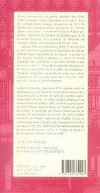 Antoine vitez - 4ème de couverture - Format classique