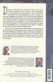 La conscience ; perspectives pédagogiques et psychologiques - 4ème de couverture - Format classique