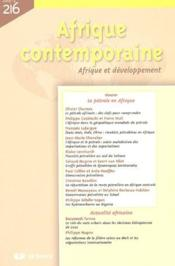 Afrique Contemporaine N.216 ; Le Pétrole En Afrique - Couverture - Format classique