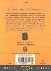 Les iles enchantees - 4ème de couverture - Format classique